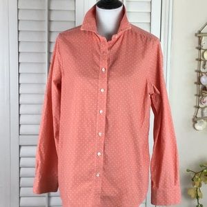 Lands' End Soft Corduroy Button Down Size M 10-12